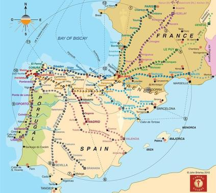 mapa-caminos-santiago