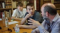 De esquerda a dereita: Ian, Anxo e Xabier