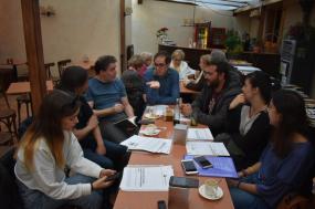 Reunión audiovisual participativo