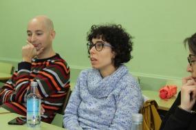 De esquerda a dereita, Gonzalo Brocos e Adriana Pérez.